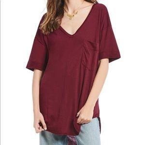 We the free women's heathered tunic t shirt